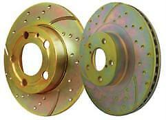 Turbo Grooved Upgraded Front Brake Discs EBC GD Sport Rotors Pair GD405