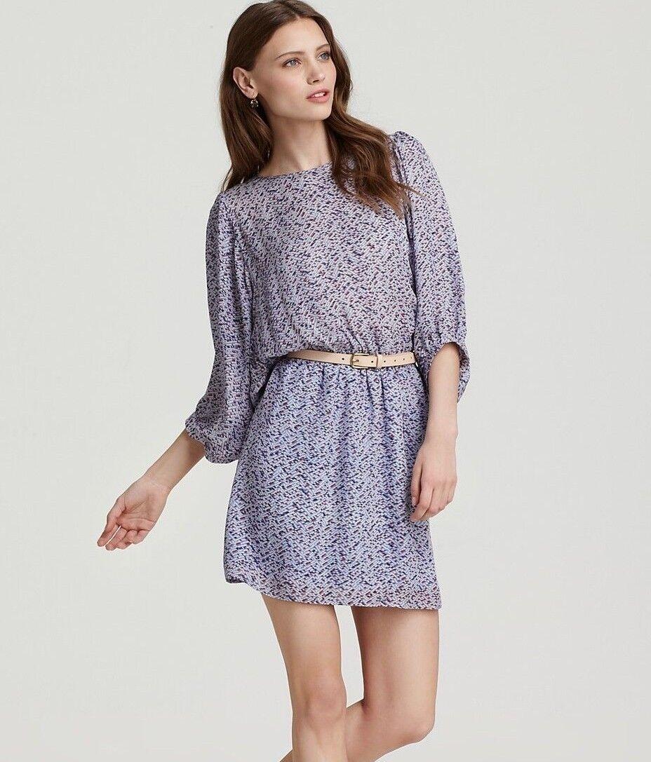 PIPPA Zigger Zagger Dolman Sleeve  Blouson Silk Dress Sz 10 New