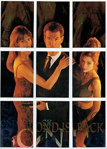 James-Bond-The-World-Is-Not-suficiente-Bond-tiene-DORSO-Individual-Tarjetas