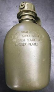 US Military Surplus 1 QUART QT HARD PLASTIC CANTEEN w NBC CAP USGI PBA FREE USGI