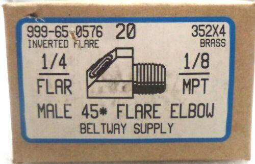 "20//Box 352x4-20 Brass 45-Degree 1//4/"" Tube OD 1//8/"" Male Pipe Thread Male Elbows"