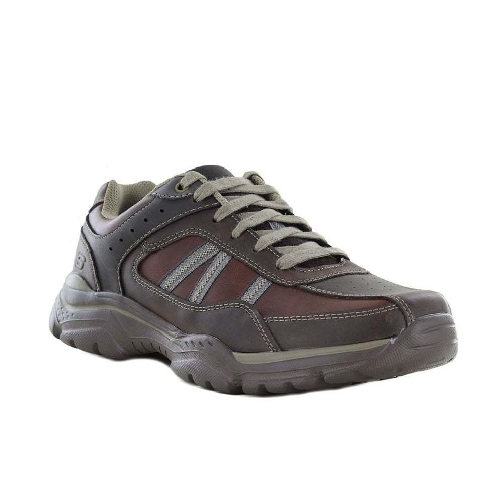 Scarpe casual da uomo  Sketchers ROVATO-Texon Scarpe da ginnastica Uomo Lacci-cioccolato