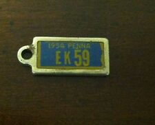1954 PENNSYLVANIA Mini License Plate D.A.V. Key Chain Fob (EK59)