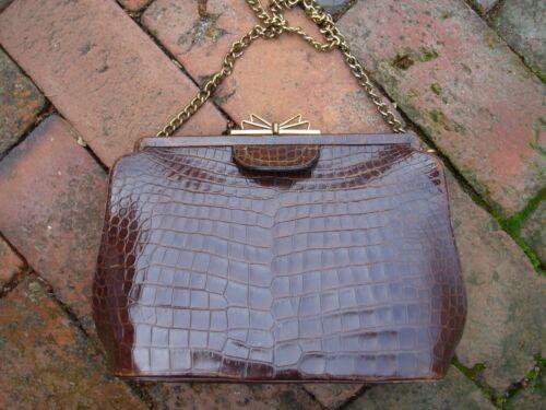 1950's Vintage Bag by Dorian Alligator Handbag Pur