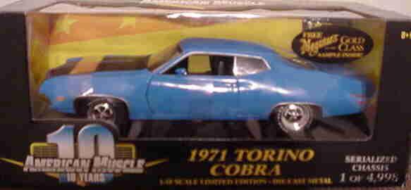 1971 Ford Torino Grabber blu 1 18 Ertl American Muscle 32496