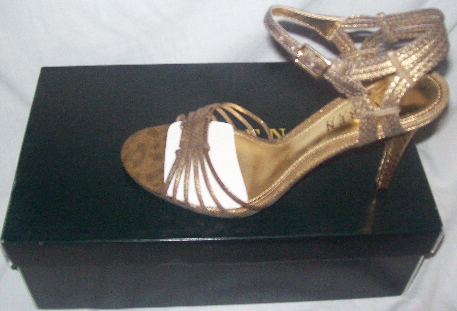 Ralph Lauren shoes Adalira Evening Sandals Glided gold textured snake new sz 6.5