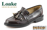 Loake Brighton Tassel Loafer Leather Shoes Oxblood Burgundy Black Mod British