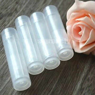 10/50/100 Diy 5g Clear Cosmetic lipstick Lip Balm Empty Container  Tube 0.1oz