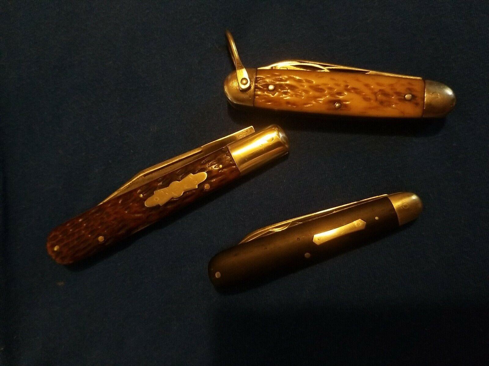 Vintage Knife lot Hibbard Spencer Empire Made in USA pocket Knives