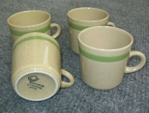 Set Of 4 Yamaka Stoneware Tea Coffee Mugs Cups Speckled Made In Japan Vintage