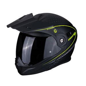 Casco-Scorpion-Adx-1-Horizon-black-yellow-Kawasaki-Versys-300-650-1000-Klx-Klv