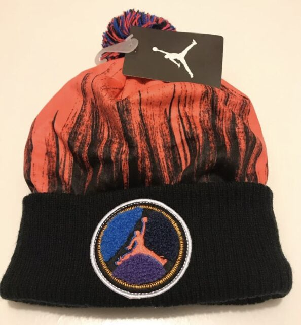 68bbfad6aa73a4 Nike Air Jordan Jumpman Beanie Youth 8 20 Infrared Pom Winter Hat ...
