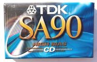 TDK SA90 Audio Cassette (Type 2) Blank Media