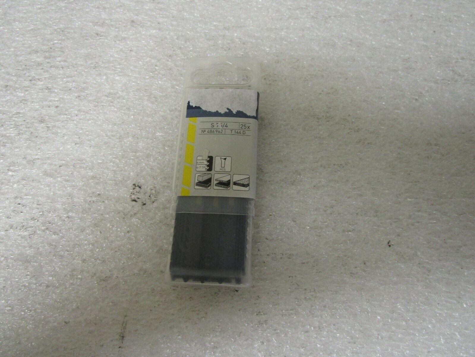Qty (25) Festool 486962 S 75 4 Clean-Cut Jigsaw Blade T144 D 3   6 TPI
