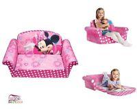 Kids Furniture Sofa Chair Bed Soft Plush Disney Minnies Toddler Lounge Seat Pink