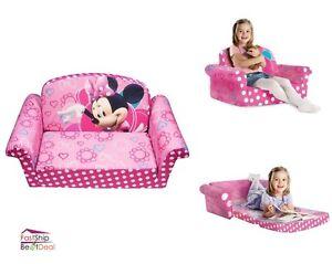 kids furniture sofa chair bed soft plush disney minnies toddler lounge seat pink ebay. Black Bedroom Furniture Sets. Home Design Ideas