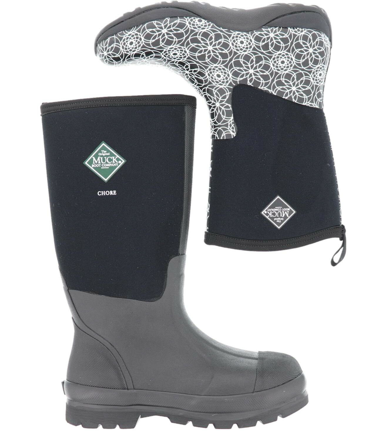 Muck Boots for Men's Women's Chore Classic Mid Rubber/Arctic Weekend Swirl print
