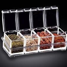 Acrylic Spice Container Jar Cruet Condiment Dispenser Salt Seasoning Box