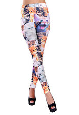 Cute Cat Pattern Stellar Space Graphic Print Footless Skinny Legging