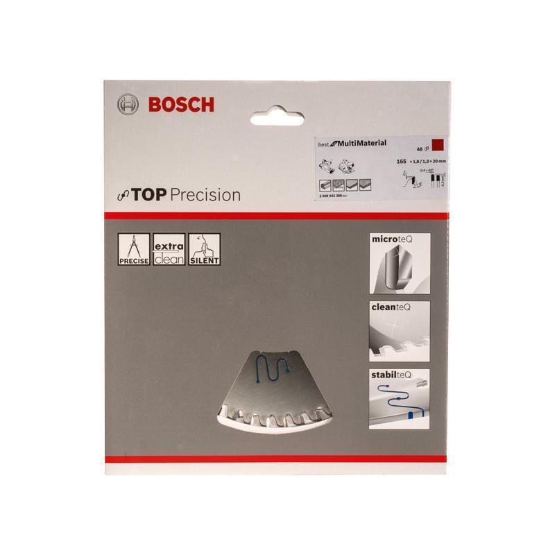 Bosch HM Sägeblatt Beste for Multi Material 165x20x1,8 mm Z=48 TR-F f.  GKT 55 CE