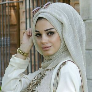 Fashion-Islamic-turban-Muslim-Women-Gold-Wrinkles-Shawl-Hijabs-Scarves-Arabian
