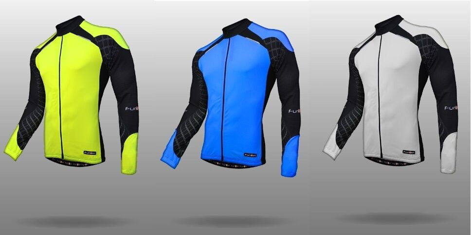 Funkier MEN's Cycling Sport  J-730-LW Winter Predection Micro Fleece L.S Jersey  more affordable