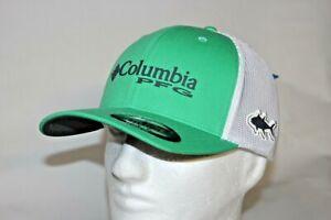 Columbia-PFG-TUNA-Flexfit-Fitted-Ball-Cap-Hat-in-Green-L-XL-7-7-3-4-FREE-Decal