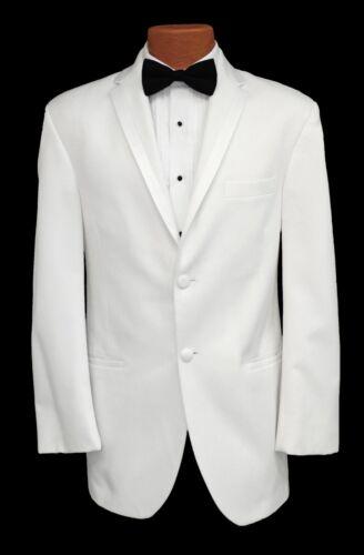 40L Handsome White Perry Ellis Encore 2 Button Tuxedo Dinner Jacket Prom Coat