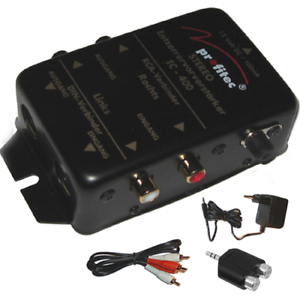 VORVERSTARKER-ENTZERRER-fuer-Plattenspieler-PROFITEC-mit-Kabel-Adapter-Netzteil