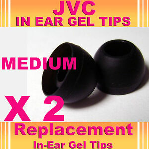 2 X Jvc en Ear Bud Cabeza teléfonos Gel Punta cubre Mediano  </span>