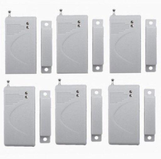 6set 433Mhz Wireless Door/Window Sensor Detector for Home Security Alarm System