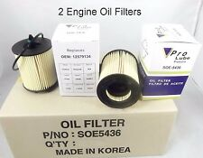 2 Engine Oil Filter SOE5436 Made In Korea Fits: GM GMC SAAB SATURN