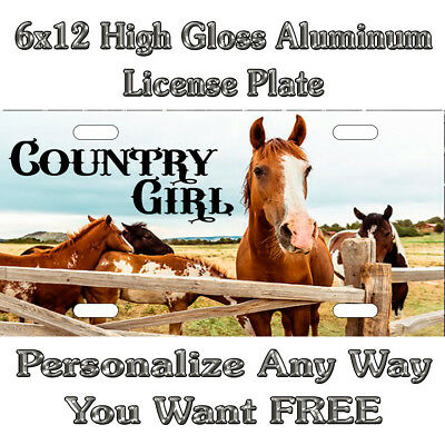 Country Girl Life Cow Funny Sign Custom License Plate Auto Car tag CRAZY HEIFER