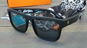 65deba81b37c New Spy DISCORD Slay Co Sunglasses Matte Blk Leopard Fade/Happy Gry ...