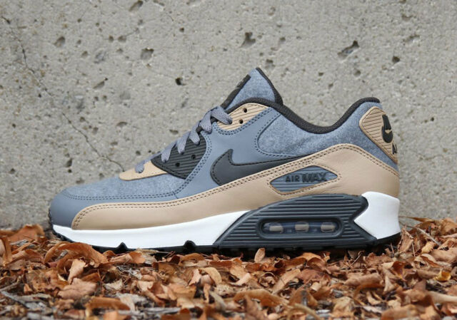 new arrival a1ad8 3682c Nike Air Max 90 Premium Wool Sneakers Gray Mushroom Fleece 700155-010 New  in Box