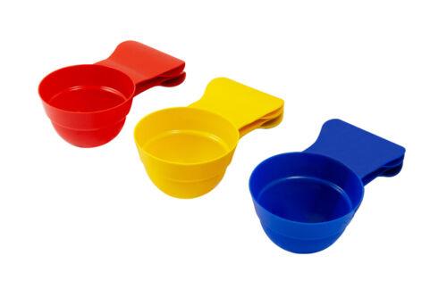 Cuchara comida para mascotas 3 Pack 3 en 1 Taza de Medir Bolsa De Sellado Clip Perro Gato Cuchara Cuchara