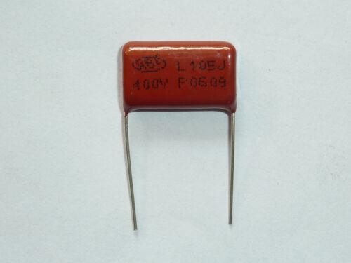 10PCS CL21 105J 400V 1UF 1000NF P20 Metallized Film Capacitor
