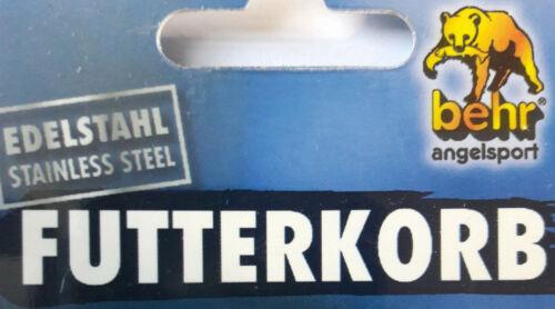 Set mit 2 Futterkörbe Edelstahl von Behr mit Bleischlitten und Gummiaufhängung