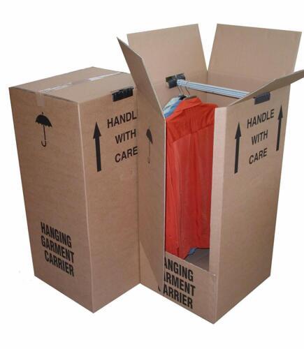 COMBINE P/&P// HIGH QUALITY 5 X BRAND NEW REMOVAL WARDROBE CARDBOARD MOVING BOX