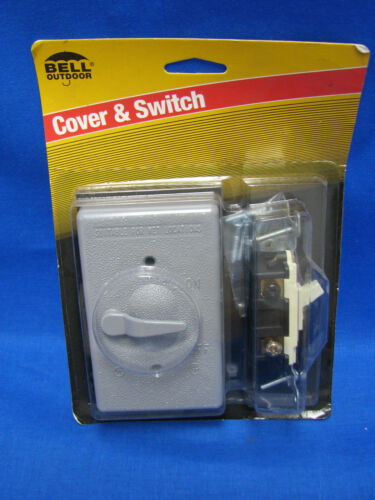 3x BELL Cover /& Switch 5141-5 3 Way 1 Gang Switch Lever Gray Weatherproof