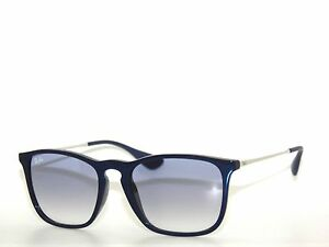 722058f5ac RAY BAN 4187 SHINY BLUE BLUE GRADIENT CLEAR 631719 Rayban NEW
