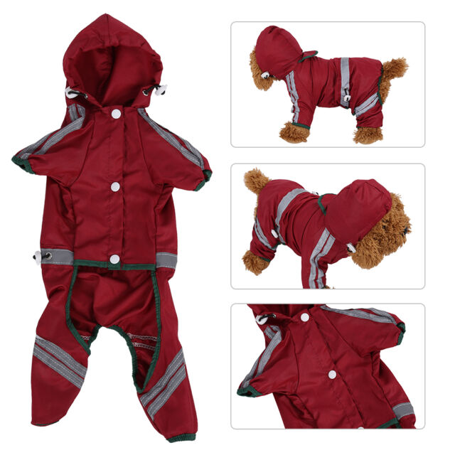 Pet Rain coat for Small Puppy Dogs Jacket Cute Casual Waterproof Dog Clothes