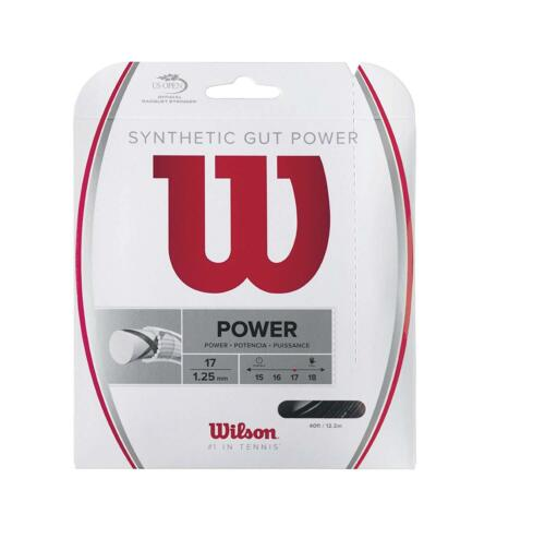 16-Gauge Synthetic Gut Power Tennis Raquel String WRZ945 Wilson