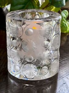 Lalique-Tokyo-Votive-Candle-Holder-Perfect-Mint-Condition-Signed-Authentic