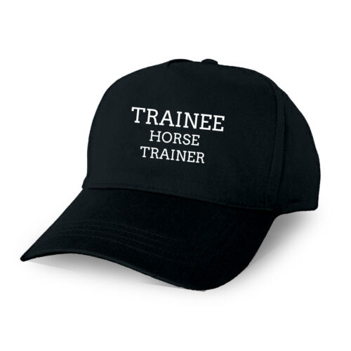 TRAINEE HORSE TRAINER PERSONALISED BASEBALL CAP GIFT TRAINING