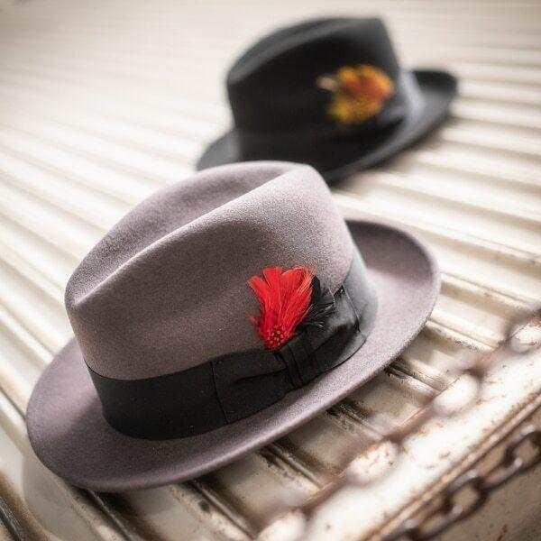 Shannon Phillips BLACK Wool Felt JACKSON FEDORA Hat ALL SIZES New MADE USA