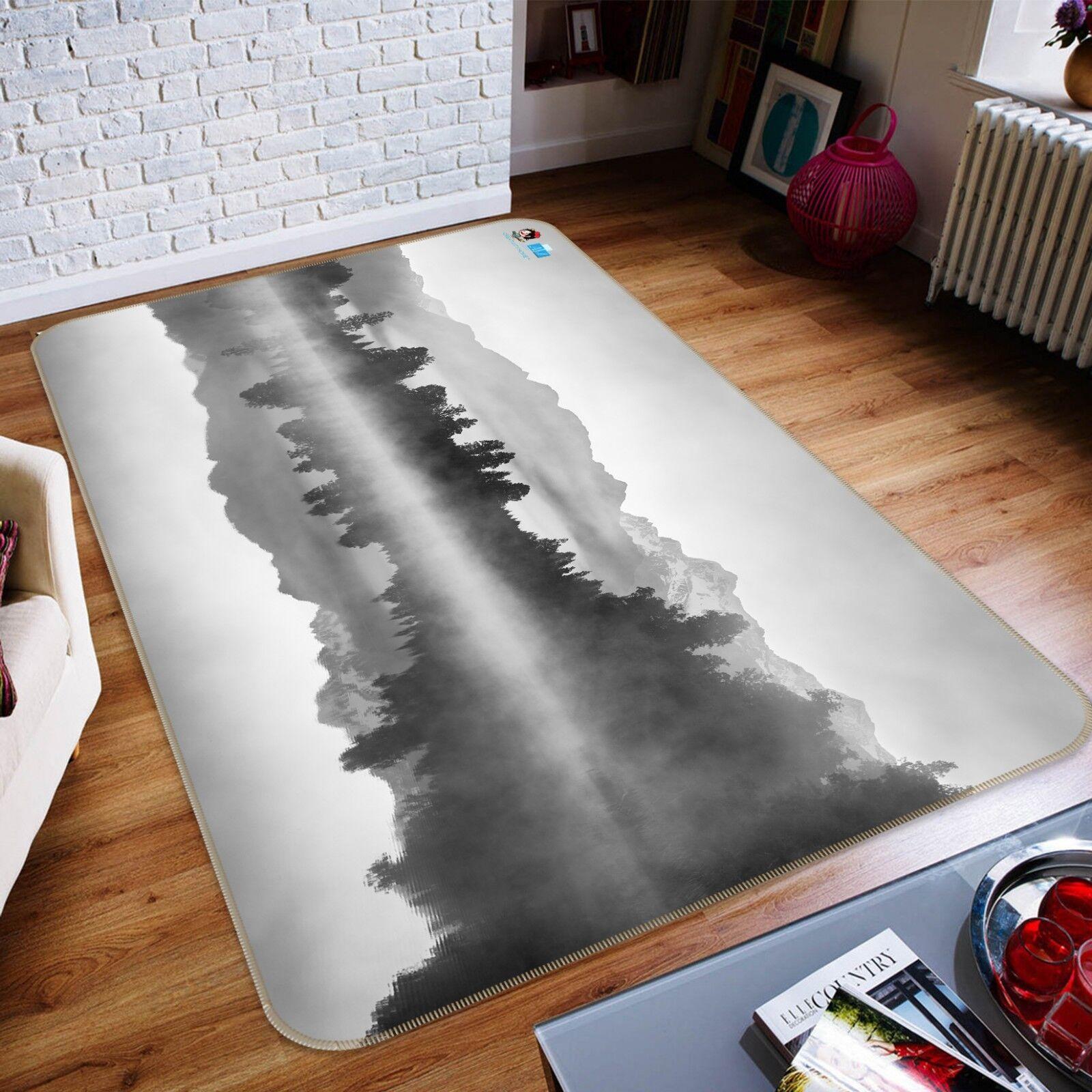 3D Foresta Fiume 213 Pavimento Antiscivolo Tappeti Elegante Tappeto IT Sunmmer