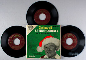 Arthur-Godfrey-Christmas-With-1953-3-Vinyl-EP-set-7-034-45RPM