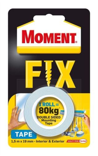 MOMENT FIX Double-Sided Adhesive Mounting Tape Holds up to 80kg