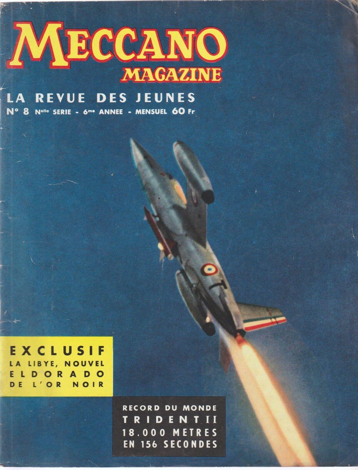 Meccano magazine, n°8. 6ème année année année (juin 1958)  directo de fábrica